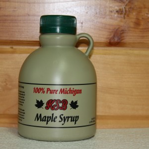 1 Pint Plastic Jug of Pure Maple Syrup