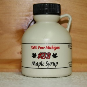 3.4 oz. Plastic Jug of Pure Maple Syrup