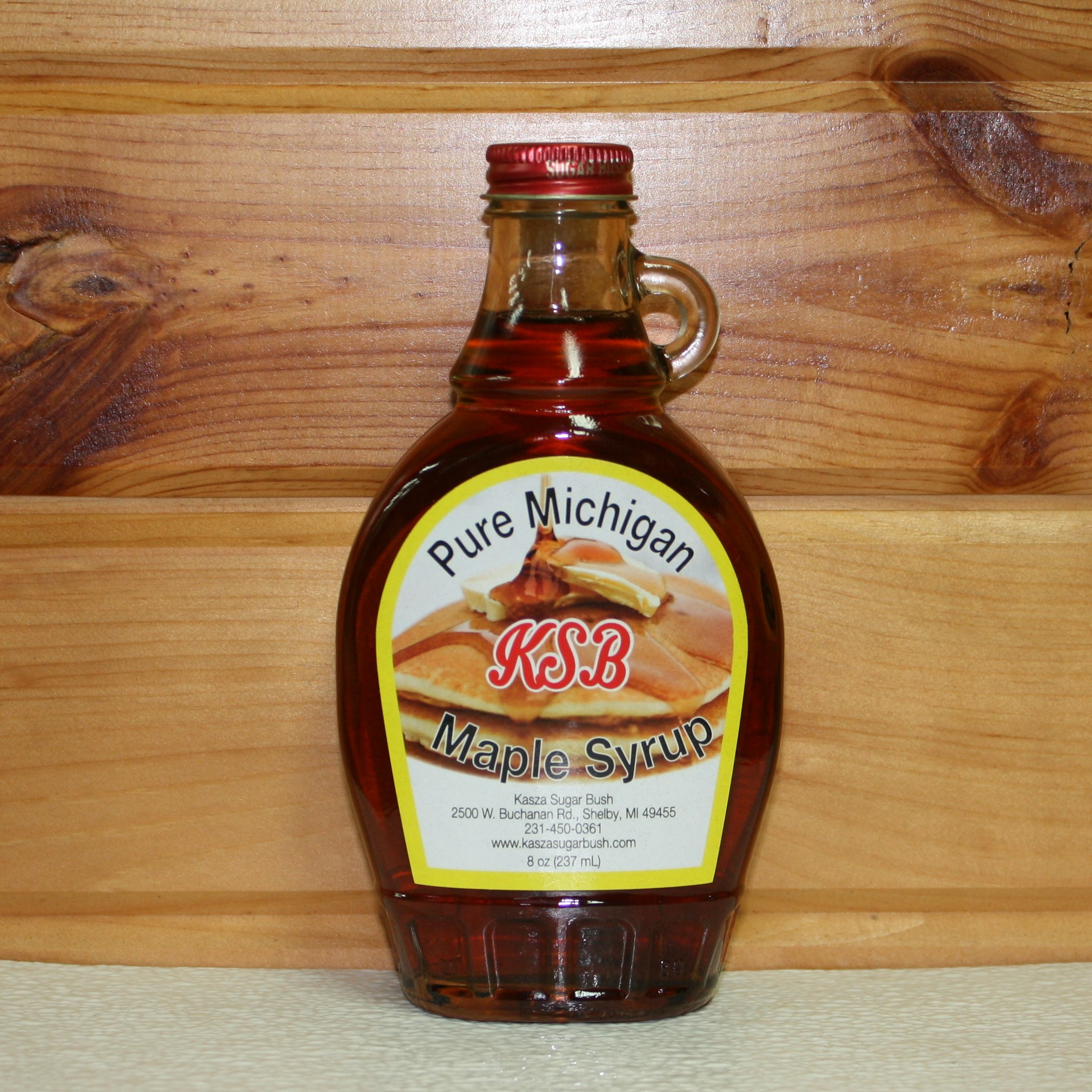 8 oz. Glass Bottle of Pure Maple Syrup
