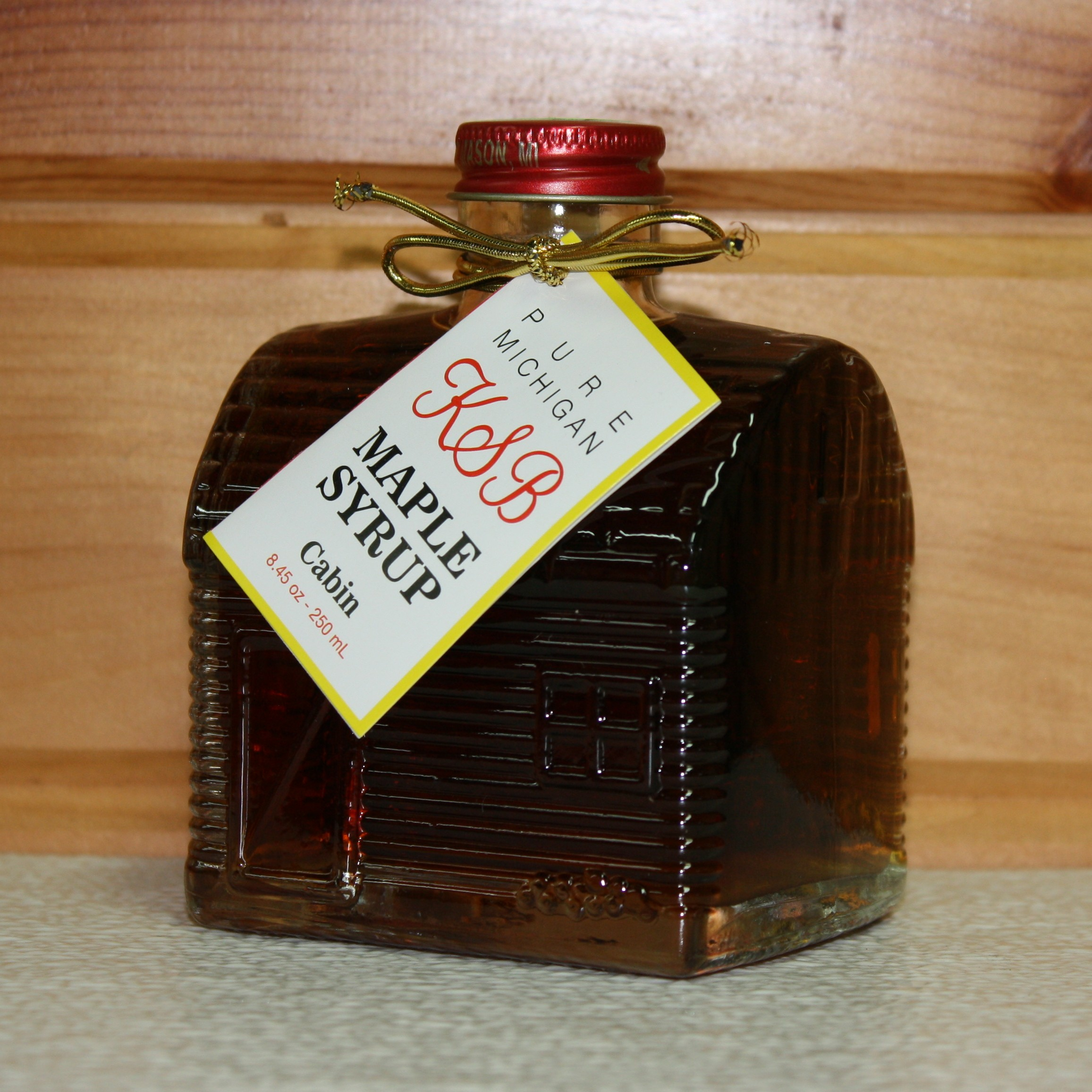 Log Cabin Bottle of Maple Syrup