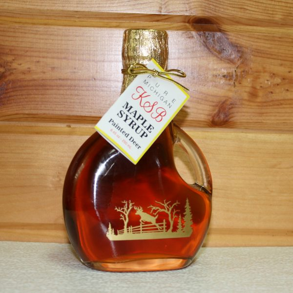 Painted Deer Bottle of Maple Syrup